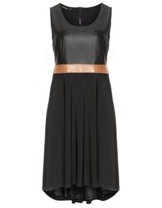 Fabric blend dress by Mat. Shop now: http://www.navabi.ca/dresses-mat-fabric-blend-dress-black-light-brown-23172-2417.html?utm_source=pinterest&utm_medium=social-media&utm_campaign=pin-it