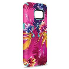 Speck Products Samsung Galaxy S7 CandyShell Inked Case (Wild Tropic Fuchsia/Mykonos Blue), Protective Case - (B Grade)