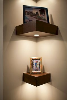 Miraculous Useful Ideas: Floating Shelves Bathroom Drawers floating shelves decoration laundry rooms.Staggered Floating Shelves Above Tv black floating shelves mirror.Floating Shelves With Pictures Toilets. Home Decor Accessories, Decorative Accessories, Diy Corner Shelf, Corner Shelves Bedroom, Corner Wall Decor, Wall Nook, Corner Mirror, Bathroom Corner Shelf, Floating Shelves Bathroom