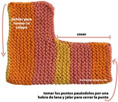 Discover thousands of images about Tutorial de ganchillo para hacer slippers de punto afgano o grany squares (Step by step tutprial to make slippers with granny squares) Los materiales que vas a necesitar son: Lana de diferentes col… Loom Knitting, Knitting Socks, Knitting Stitches, Baby Knitting, Crochet Baby, Knitting Patterns, Knit Crochet, Crochet Patterns, Knitted Slippers