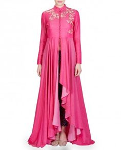 Pink Embroidered Anarkali Kurta Set