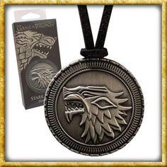 Game of Thrones House Stark DireWolf Shield Official HBO Silver Pendant Necklace Game Of Thrones Jewelry, Game Of Thrones Houses, Hbo Game Of Thrones, Casa Stark, House Stark, Khal Drogo, Daenerys Targaryen, Maison Stark, Witches