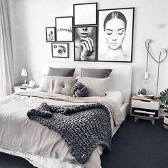 Apartment decor Modern - Gorgeous Modern Scandinavian Bedroom Design And Decor Ideas Modern Master Bedroom, Modern Bedroom Decor, Scandinavian Bedroom, Stylish Bedroom, Bedroom Rustic, Contemporary Bedroom, Bedroom Boys, Modern Decor, Design Bedroom
