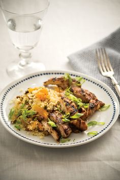 Recipe of the week: 'Moroccan Chicken with Apricot and Pistachio Couscous' Moroccan Chicken, Couscous, Pistachio, Spice Things Up, Bbq, Recipies, Dinner Recipes, Spices, Healthy Eating