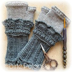 Ravelry: Lacy Victorian Gloves pattern by Esthermay Bentley-Goossen Fingerless Gloves Crochet Pattern, Knit Mittens, Knitted Gloves, Crochet Collar, Knit Crochet, Crochet Hats, Shibori, Knitting Patterns, Crochet Patterns