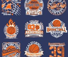 Creative retro basketball labels vector
