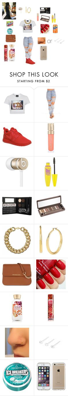 """Summer Fashion 2016 #12"" by beautyonfleek ❤ liked on Polyvore featuring Untitled & Co, NIKE, Smith & Cult, Beats by Dr. Dre, Maybelline, NYX, Urban Decay, Kenneth Cole, MICHAEL Michael Kors and claire's"