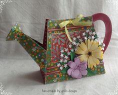Geschenktüte Geschenkverpackung  'Gießkanne' von gislis-design auf DaWanda.com
