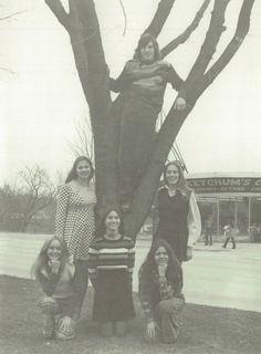 "Junior class officers in the 1974 ""Falcon"" yearbook of Van Horn high school in Independence, Missouri.  #VanHorn #Falcon #yearbook #1974"