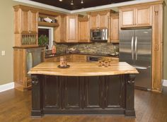 Black Distressed Kitchen Cabinets   Pre-finished Kitchen Cabinets, ready to assemble, All Wood Vintage ...