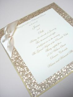 bat mitzvah invitation glamour elegant champagne invites shimmer square luxury