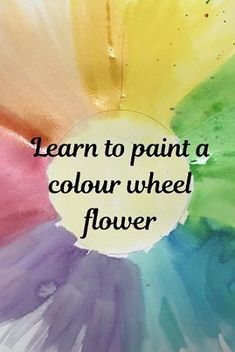 Watch this easy and fun painting tutorial to learn how to make a colour wheel flower using water colour paints. Color Wheel Art, Painting Videos, Learning Colors, 2d Art, Learn To Paint, Art Techniques, Swirls, Paint Colors, Watercolor Paintings