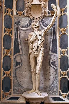Grave Marker- Transi (or cadaver) tomb of René de Chalon, 1547, in the church of Saint-Étienne, Bar-le-Duc, France.
