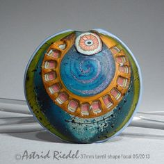 Going in Circles abstract Art Glass 37mm Focal by AstridRiedel, $75.00