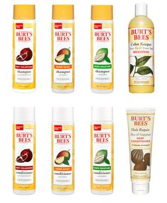 Burts Bees shampoos and conditioners. No sulfates, parabens, phthalates, petrochemicals, or synthetic fragrances.