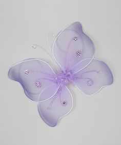 Take a look at this Lavender Butterfly Wings by Miss Fancy Pants on #zulily today!