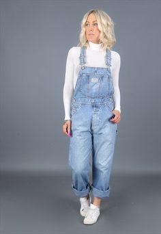 LEVIS+Vintage+Denim+Dungarees+Blue+Jeans++90's++(4DZ) Denim Dungarees, Overalls, Edgy School Outfits, Salopette Jeans, Vintage Levis, Blue Jeans, Asos, Runway, Luxury