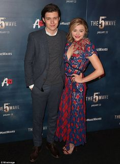 Dynamic duo: She posed with co-star Nick Robinson at the event