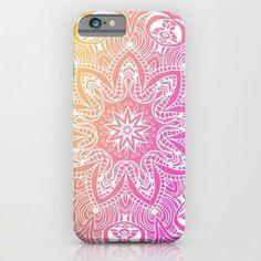 Mandala - Pink iphone case, smartphone