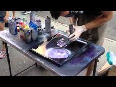 Картина шпателем за пять минут - YouTube
