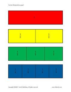 Tarjetas de fracciones