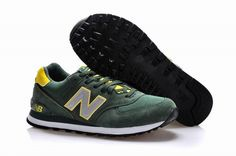 Joes New Balance ML574DGY Classic Green Yellow Mens Shoes