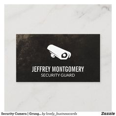 Security Camera | Grunge Background Business Card