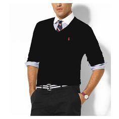 Ralph Lauren Men's Cashmere Sweater in Black