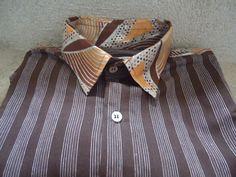 Brown bohemian style autumn shirt Retro men shirt by slumshirts, €65.00