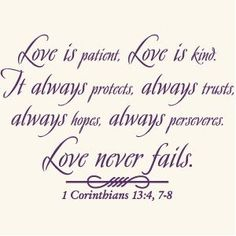 Love Is Patient God Quote Vinyl Wall Art Decal Sticker-Home Décor-FREE SHIPPING