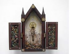 Nail Triptych (2009) -Susan Lenz / AlteredBooks & collections