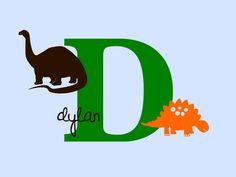 Dinosaur, Name and Initial Wall Decal