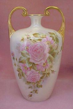 Willets Belleek Rose vase