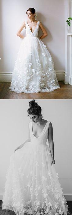 Cheap Wedding Dresses, Tulle Wedding dresses, Wedding Dresses Cheap, Long Wedding Dresses, White Wedding Dresses, Bridal Wedding Dresses, Long White dresses, White Long Dresses, Cheap White Dresses, Cheap Wedding Dresses Floor-length Appliques Tulle Bridal Gown