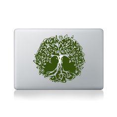 Tree Mandala Macbook Sticker #design #macbook #macbookstickers #pimpmymacbook #decals #stickers #vinyl #DIY #laptop #tree #mandalas