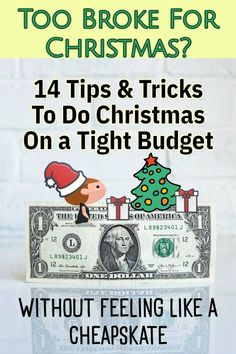 How To Do Christmas CHEAP When You're Broke and on a VERY Tight Budget (without feeling like a cheapskate!) Simple Christmas, Christmas Time, Christmas Crafts, Christmas Ideas, Savings Chart, Household Notebook, Budget Holidays, Budgeting Money, Tight Budget