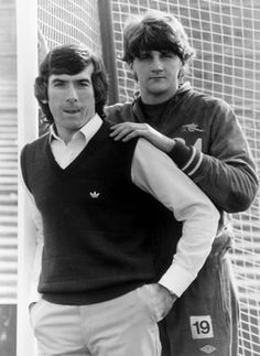 Arsenal keepers Pat Jennings (left) and Jon Lukic. Jennings made the move down the road from White Hart Lane to become a legend to both bitter rivals fans unlike others who made the move between the clubs.