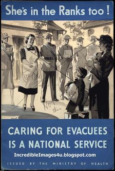Many children were evacuated from the towns and cities to where they were safer in the countryside.