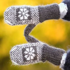 New Hand knit mohair mittens ICELANDIC GRAPHITE GRAY hand warmers by SUPERTANYA #SuperTanya #Mittens