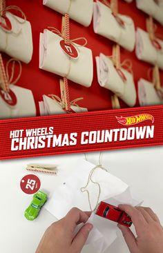Fill this DIY advent calendar with Hot Wheels surprises for your kids for an…