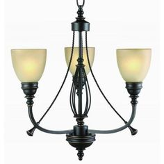 Commercial Electric 3-Light Bronze Chandelier-RB063-P3 at The Home Depot