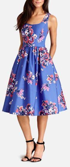 floral print cotton midi dress