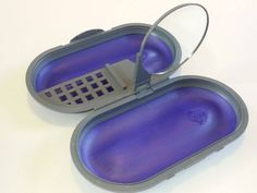 """vtg 90's Cosmepak purple travel organizer makeup storage case mirror Jam Packers <a class=""""pintag searchlink"""" data-query=""""%23JamPackers"""" data-type=""""hashtag"""" href=""""/search/?q=%23JamPackers&rs=hashtag"""" rel=""""nofollow"""" title=""""#JamPackers search Pinterest"""">#JamPackers</a>"""