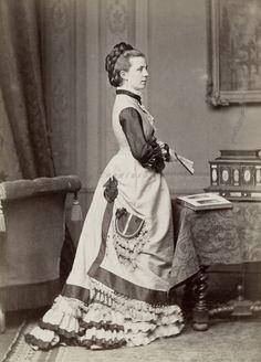 Princess Albretch of Prussia, neé Princess Marie of Saxe Altenburg (1854-1898) . Mids 1870s