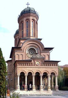 Antim Church Bucharest Art Nouveau, Art Deco, Bucharest, Historic Homes, Byzantine, Romania, Lighthouse, Places To See, Garden Design