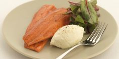 Savoury smoked trout and piquant horseradish crème fraîche are combined with salad in this fantastic smoked trout recipe by Geoffrey Smeddle.