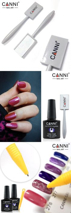 [Visit to Buy] CANNI Magnetic Plate Magn Pen 51104 51103 for All Kinds of Nail Art Magic 3D Cat Eyes Magnet Nail Gel Polish DIY Magnet Gel Tool #Advertisement