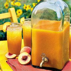 Peach Iced Tea -   Enjoy the refreshing flavors from the sliced orange and peaches while sipping this Spanish drink that's a summertime favorite.