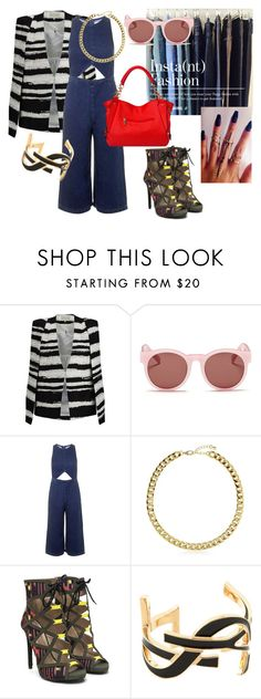 """Instant Fashion! Denim Culotte Jumpsuit!"" by emma-oloughlin ❤ liked on Polyvore featuring Lavish Alice, Blanc & Eclare, Topshop, BERRICLE and Yves Saint Laurent"