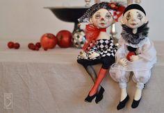 DELL'ARTE (шарнирная текстильная кукла, грунтованный текстиль)будние дни - Ярмарка Мастеров - ручная работа, handmade
